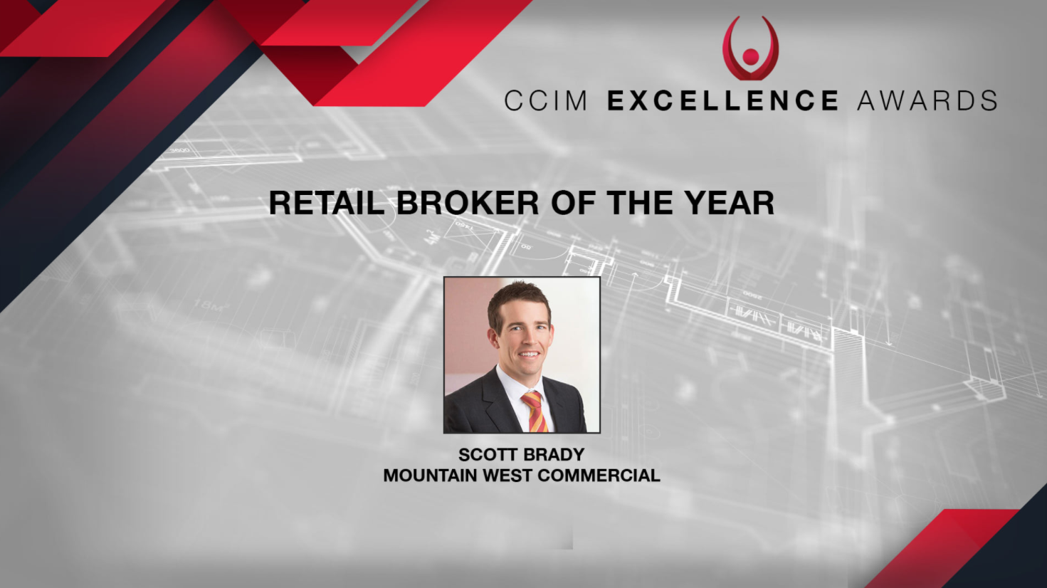 CCIM Recognizes Mountain West Commercial Real Estate Agent  Scott Brady as 2020's Retail Broker of the Year